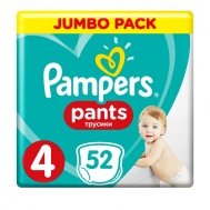 PAMPERS PANTS ΠΑΝΕΣ Ν4 9-15KGR 52ΤΕΜ
