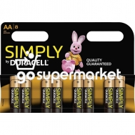 DURACELL SIMPLY ΜΠΑΤΑΡΙΕΣ ΑΑ 8ΤΕΜ