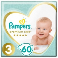 PAMPERS PREMIUM CARE Ν3 6-10KGR 60ΤΕΜ ΠΑΙΔΙΚΕΣ ΠΑΝΕΣ