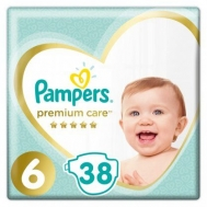 PAMPERS PREMIUM CARE N6 13+KGR 38ΤΕΜ ΠΑΙΔΙΚΕΣ ΠΑΝΕΣ