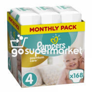 PAMPERS PREMIUM CARE ΠΑΝΕΣ Ν4 8-14KGR 168TEM (MONTHLY PACK)