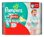 PAMPERS BABY DRY MAXI PANTS N4 8-15KGR 23ΤΕΜ