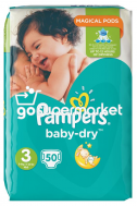 PAMPERS BABY DRY ΠΑΙΔΙΚΕΣ ΠΑΝΕΣ Ν3 4-9KGR 50ΤΕΜ