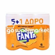 FANTA ΠΟΡΤΟΚΑΛΑΔΑ ΚΟΥΤΙΑ 330ML 5+1ΔΩΡΟ