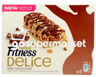 NESTLE FITNESS BARS MILK CHOCOLATE 6ΤΧ22,5ΓΡ