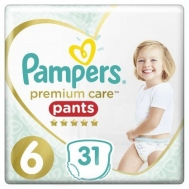 PAMPERS PR.CARE PANTS ΠΑΝΕΣ Ν6 15+KGR 31ΤΕΜ