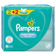 PAMPERS ΜΩΡΟΜΑΝΤΗΛΑ 52ΤΕΜ 2+2ΔΩΡΟ FRESH CLEAN