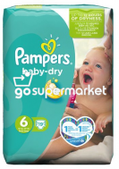 PAMPERS BABY DRY EX.LARGE N6 +15KGR 19ΤΕΜ ΠΑΙΔΙΚΕΣ ΠΑΝΕΣ