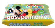 COTTONINO MICKEY MOUSE ΥΓΡΑ ΜΑΝΤΗΛΑΚΙΑ 72ΤΕΜ