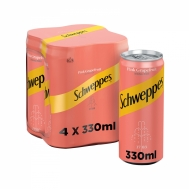 SCHWEPPES SODA PINK GRAPEFRUIT 4Χ330ML