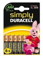 DURACELL SIMPLY ΜΠΑΤΑΡΙΕΣ ΑΑΑ 8ΤΕΜ