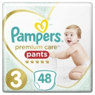 PAMPERS PR.CARE PANTS ΠΑΝΕΣ Ν3 6-11KGR 48ΤΕΜ