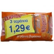 CHAMPION ΚΡΟΥΑΣΑΝ ΒΕΡΙΚΟΚΟ 3Χ70ΓΡ €1.29