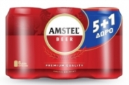 AMSTEL ΜΠΥΡΑ ΚΟΥΤΙ 375ML 5+1ΔΩΡΟ