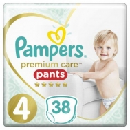 PAMPERS PR.CARE PANTS Ν4 9-15KGR 38ΤΕΜ