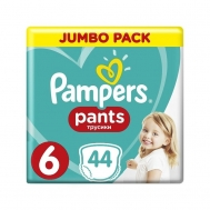 PAMPERS PANTS ΠΑΝΕΣ Ν6 15+KGR 44ΤΕΜ
