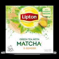 LIPTON GREEN MATCHA&GINGER ΠΥΡΑΜΙΔΑ 20Χ1.5ΓΡ
