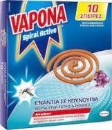VAPONA ACTIVE ΑΝΤΙΚΟΥΝΟΥΠΙΚΟ ΣΠΙΡΑΛ 10ΤΕΜ