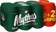 MYTHOS ΜΠΥΡΑ ΚΟΥΤΙ 330ML 6+2ΔΩΡΟ